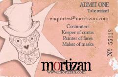 Flyer Design : Mortizan Costumiers 2010